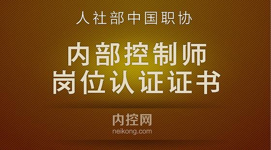 中国职协内部控制师岗位职业培训证书网络培训班