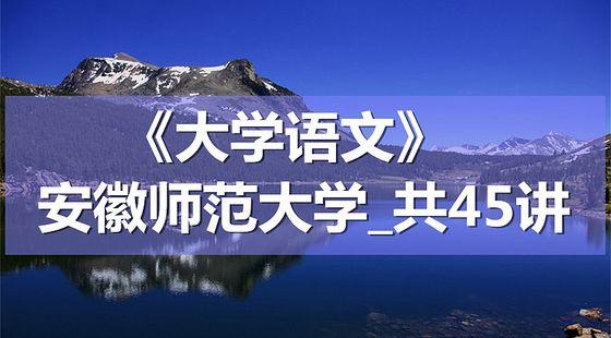 K8093_《大学语文》_安徽师范大学_共45讲